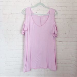 [Lane Bryant] cold shoulder swing tee size 26/28